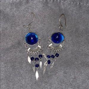 Jewelry - Blue Marble earrings